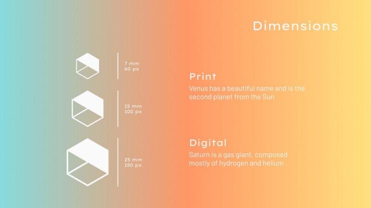 Modelo de apresentação Branding para redes sociais