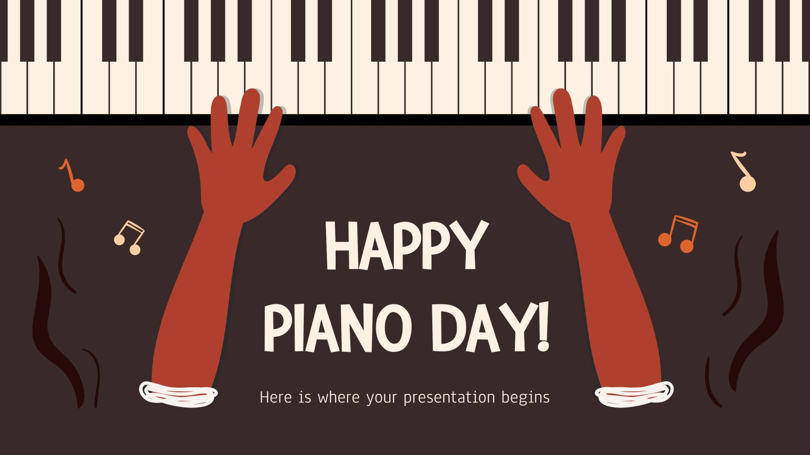 Happy Piano Day! presentation template