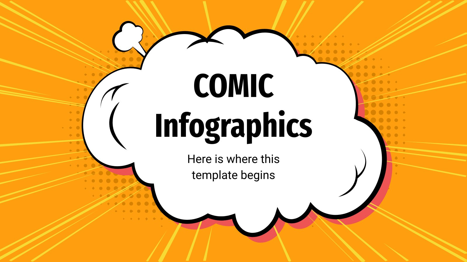 Comic Infographics presentation template