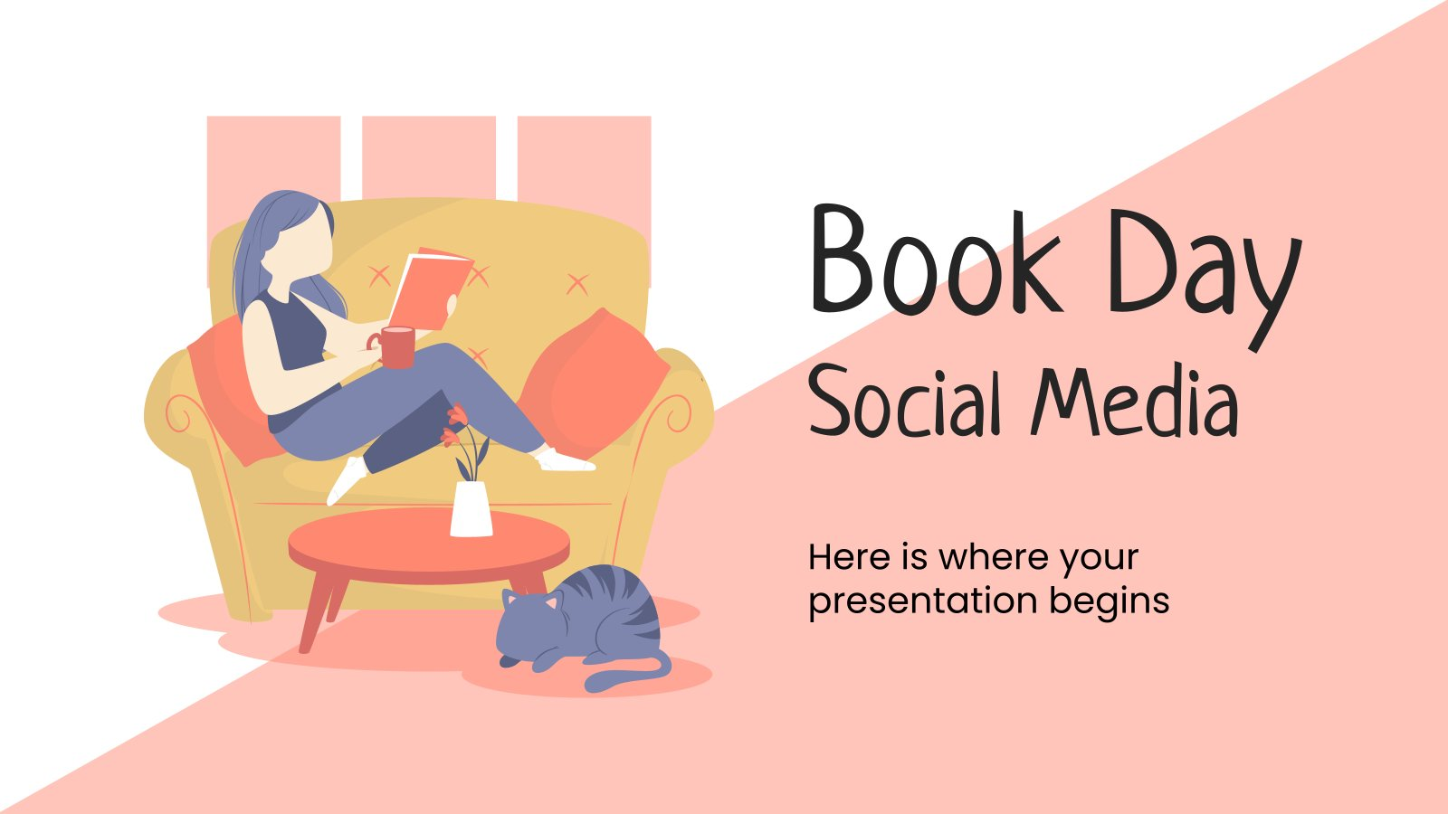 Book Day Social Media presentation template