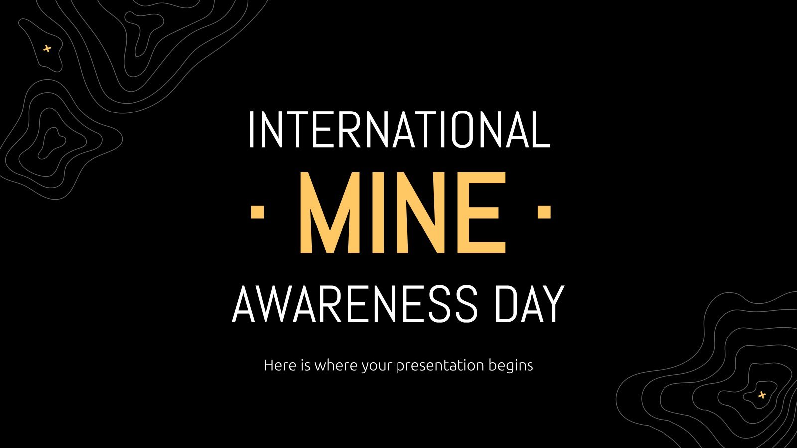 International Mine Awareness Day presentation template