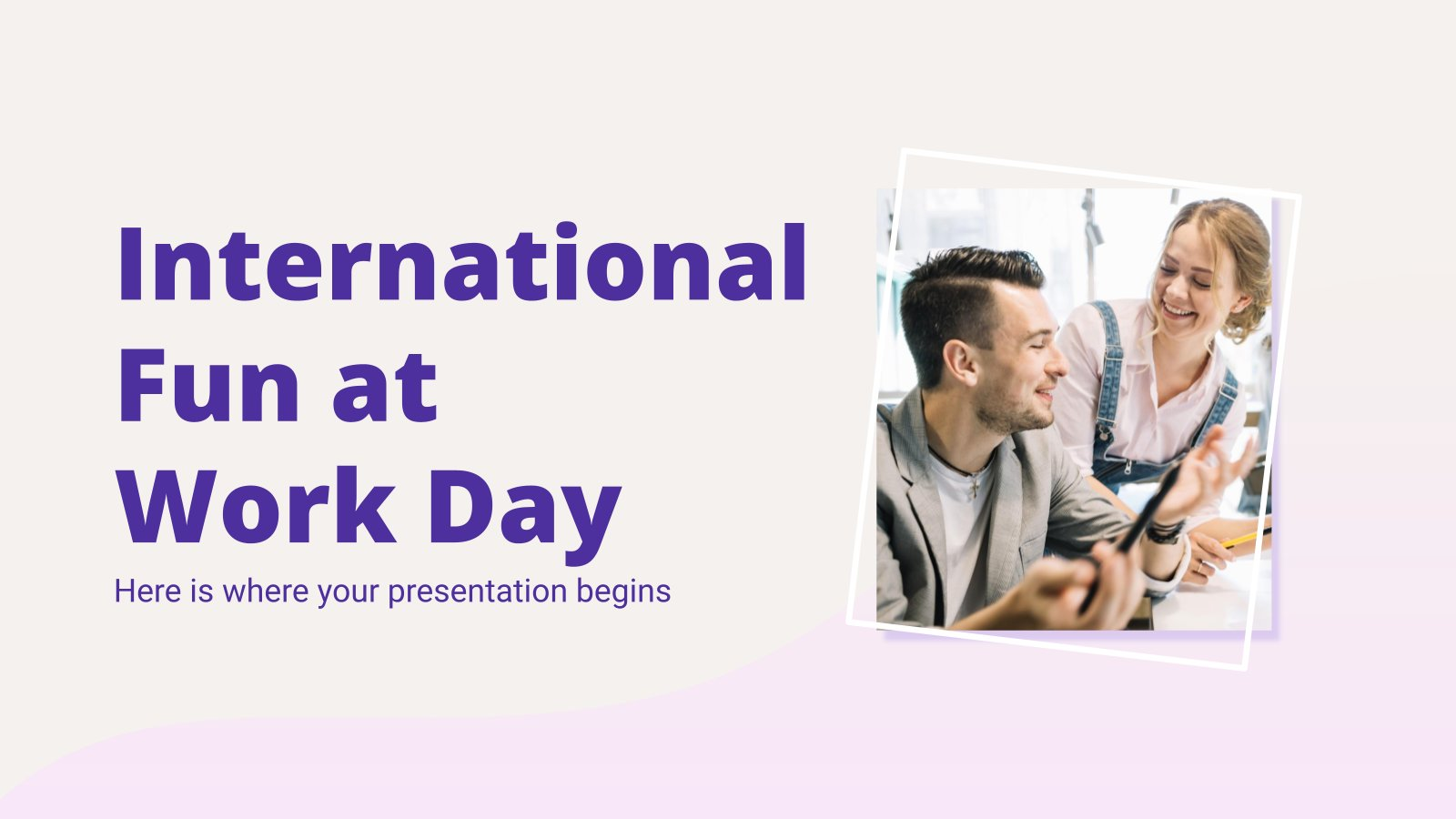 International Fun at Work Day presentation template