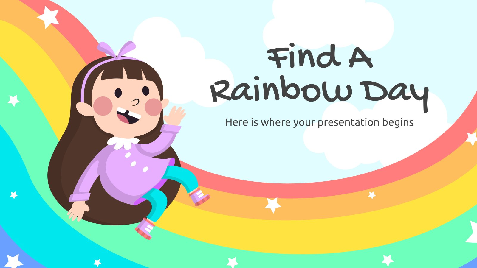 Find a Rainbow Day presentation template