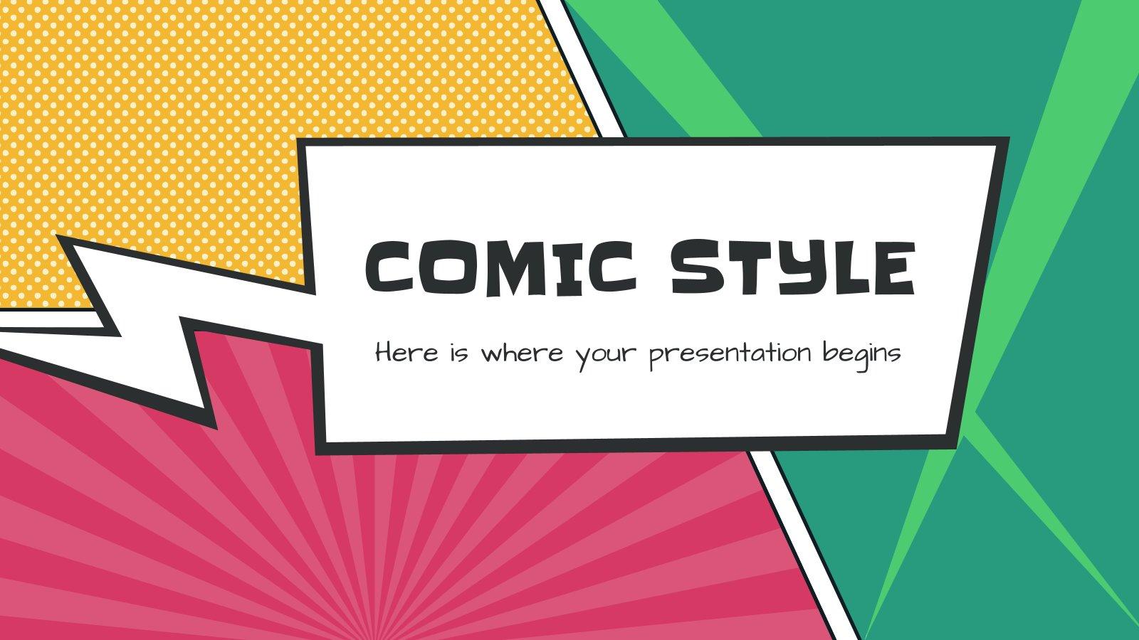 Comic Style presentation template
