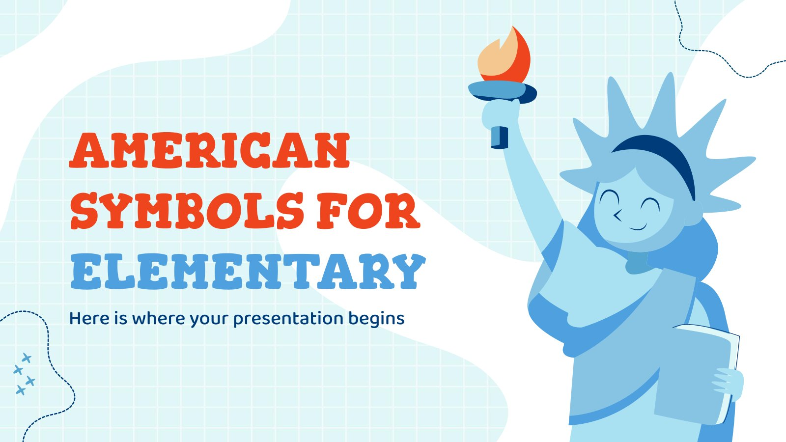American Symbols for Elementary presentation template