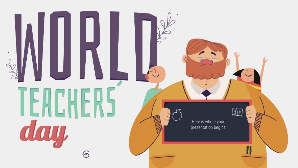 Plantilla de presentación Día Mundial de los Docentes