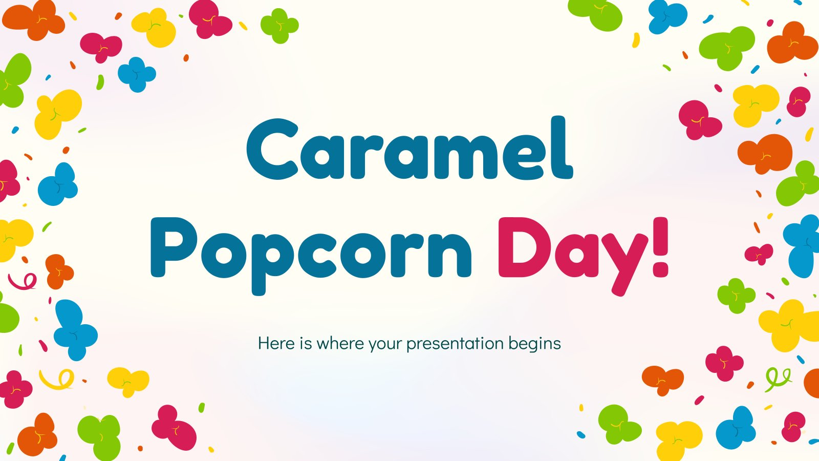 Caramel Popcorn Day! presentation template