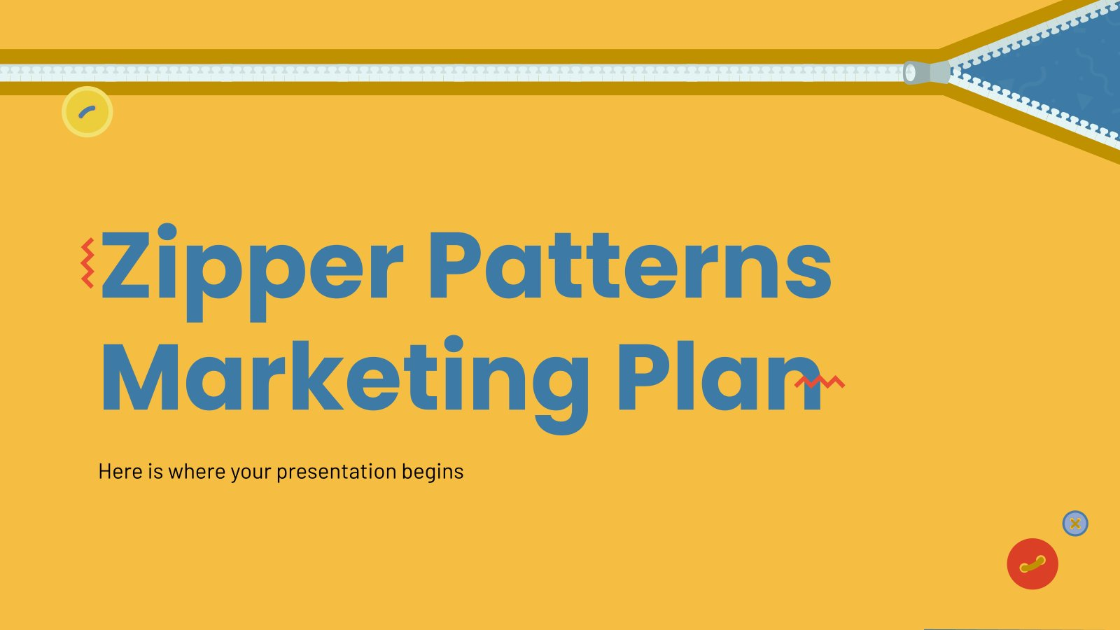 Zipper Patterns MK Plan presentation template