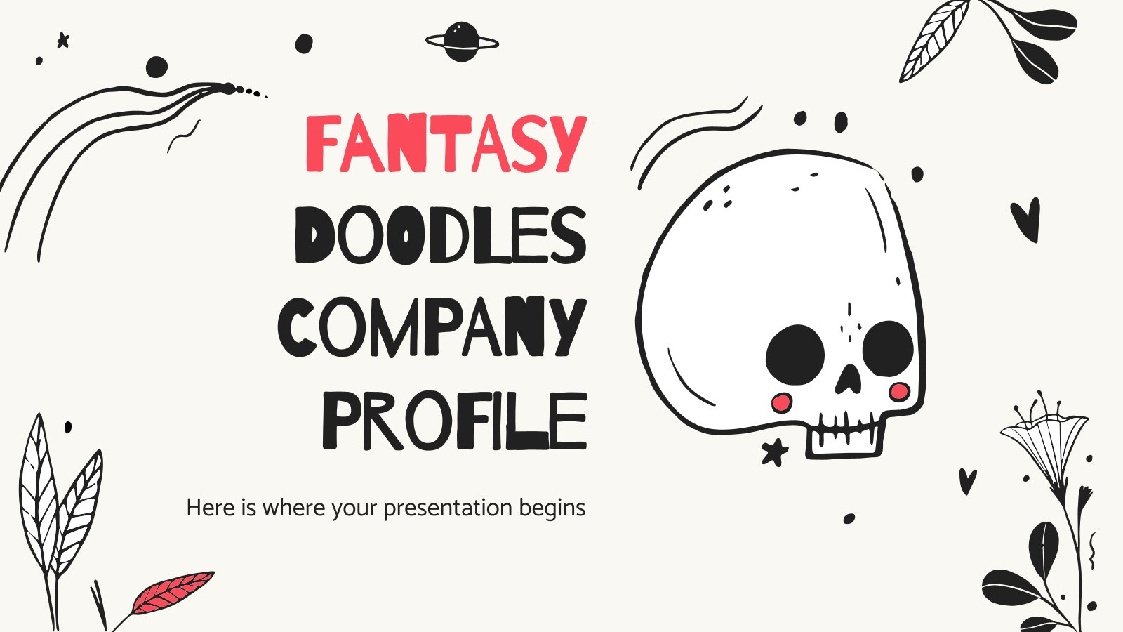 Fantasy Doodles Company Profile presentation template