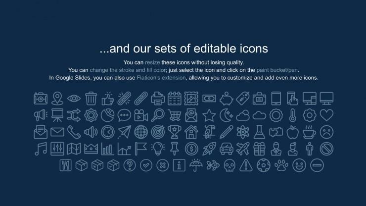 Plantilla de presentación Perfil de empresa con doodles