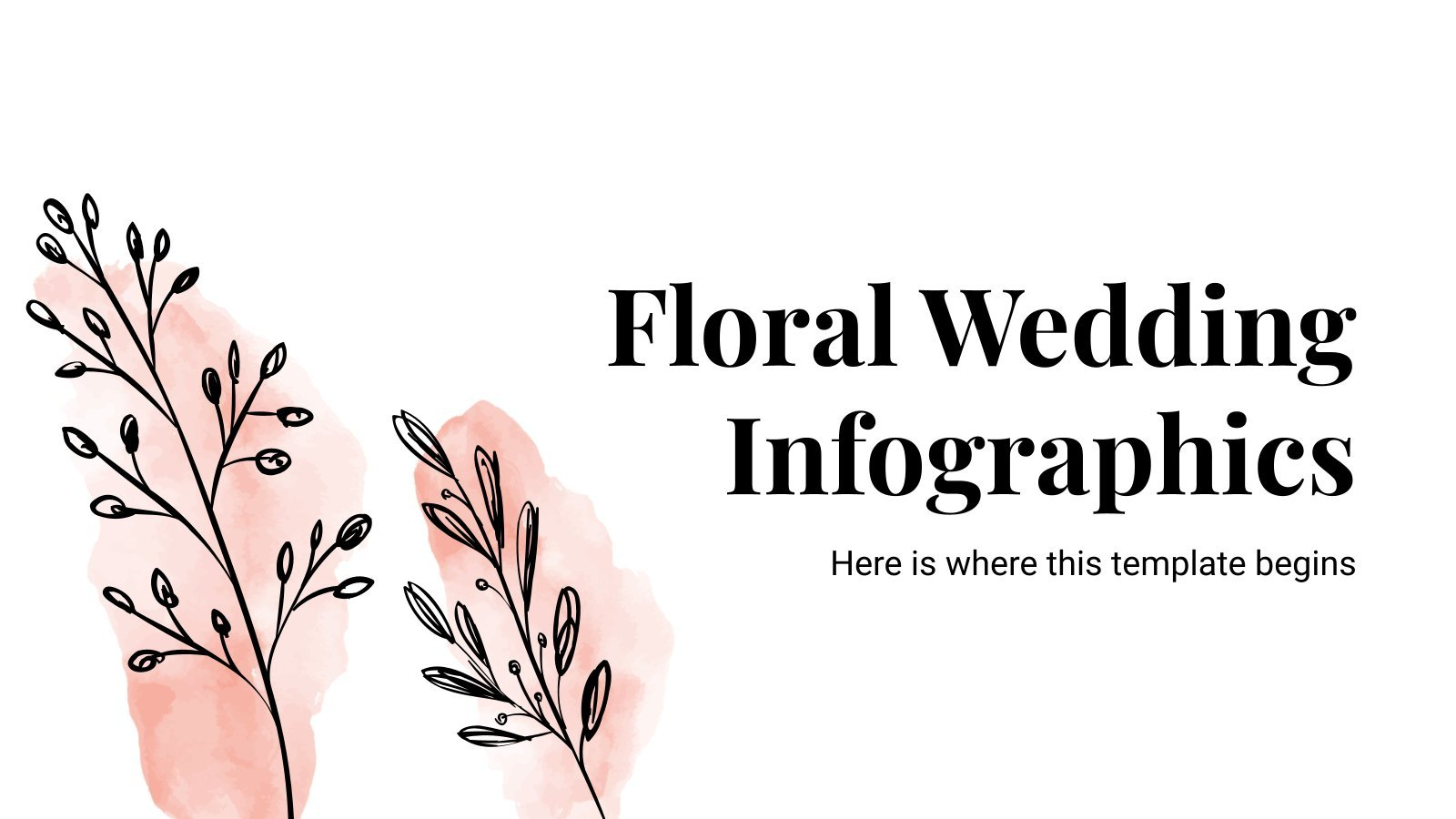 Floral Wedding Infographics presentation template