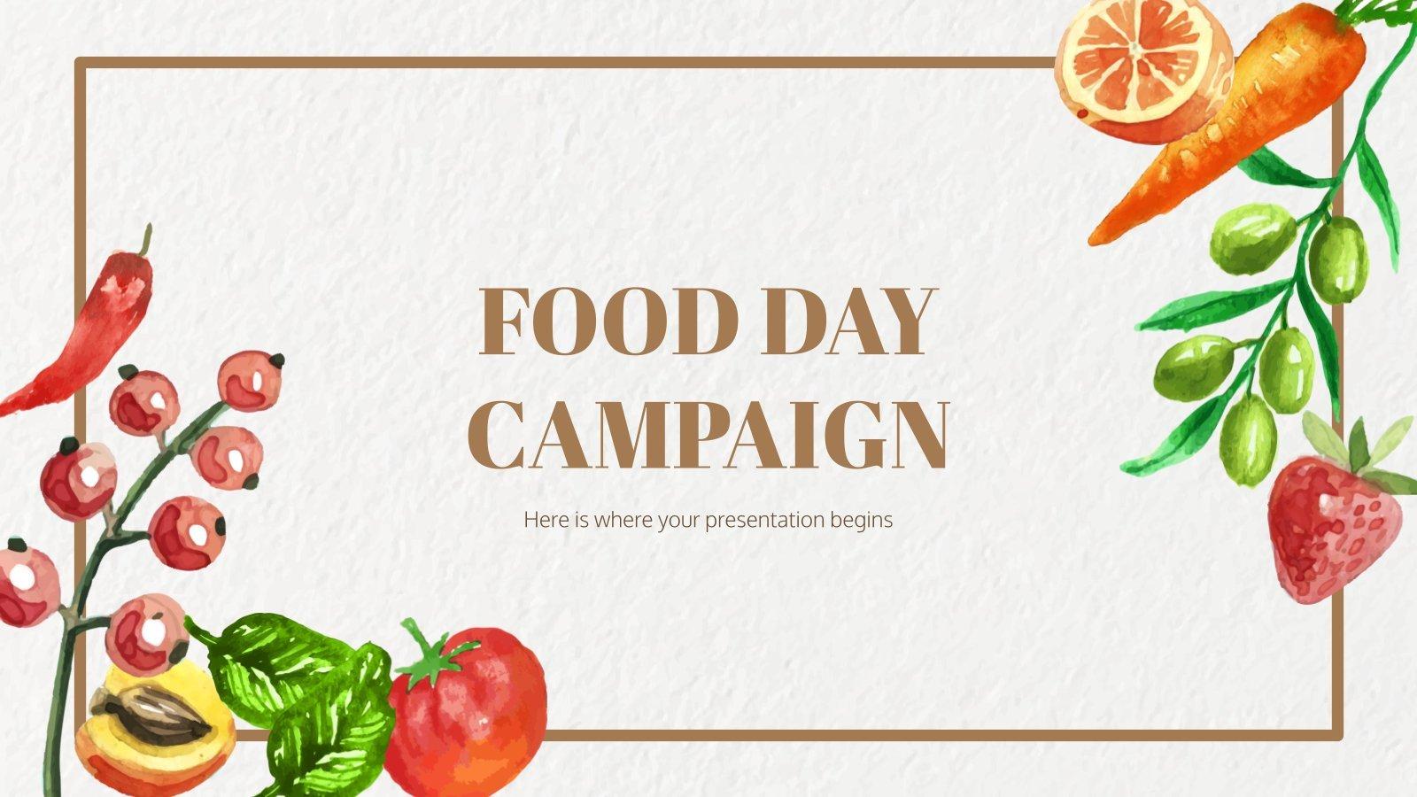 Modelo de apresentação Campanha do Dia Mundial da Alimentação