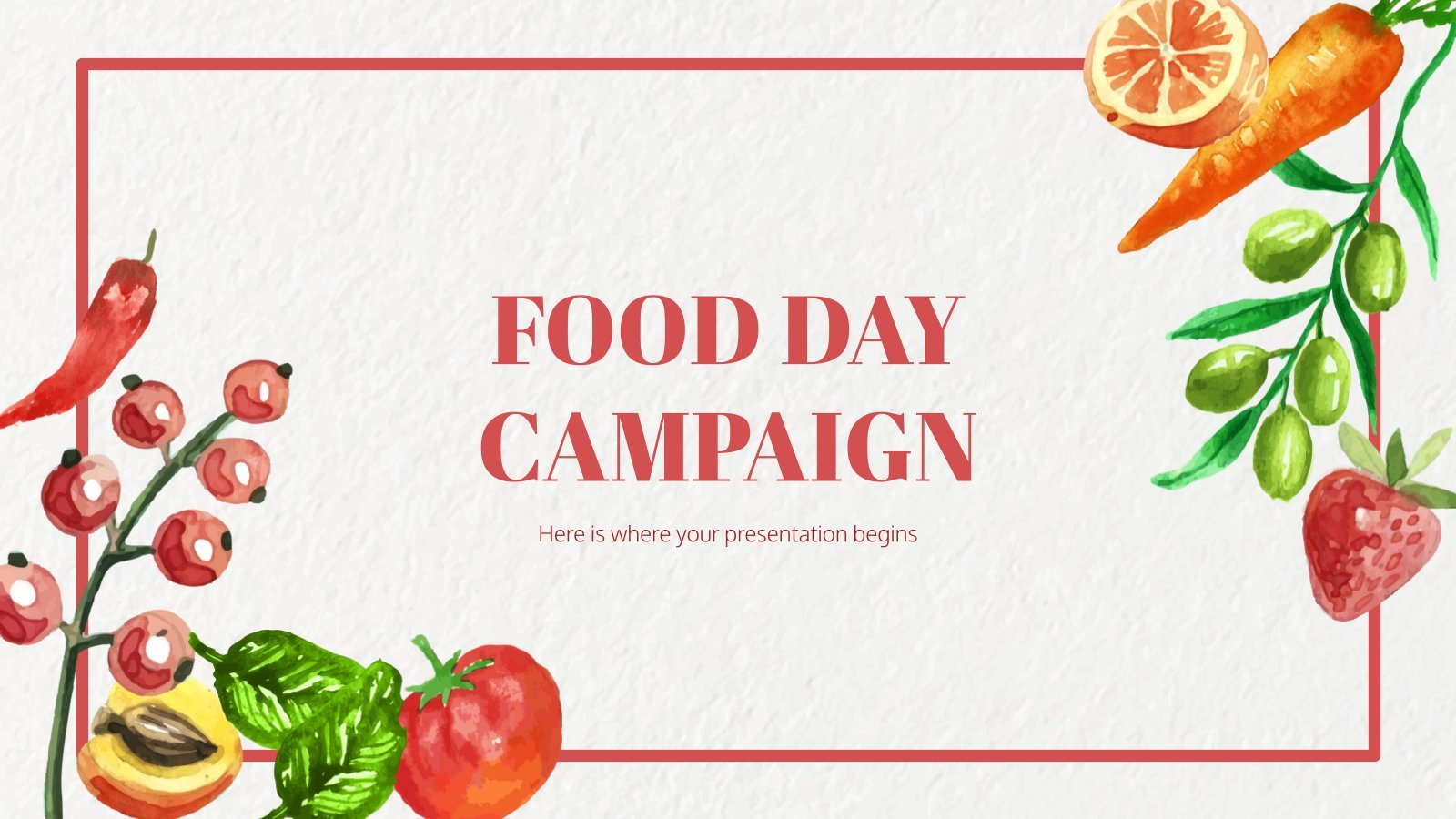 Food Day Campaign presentation template
