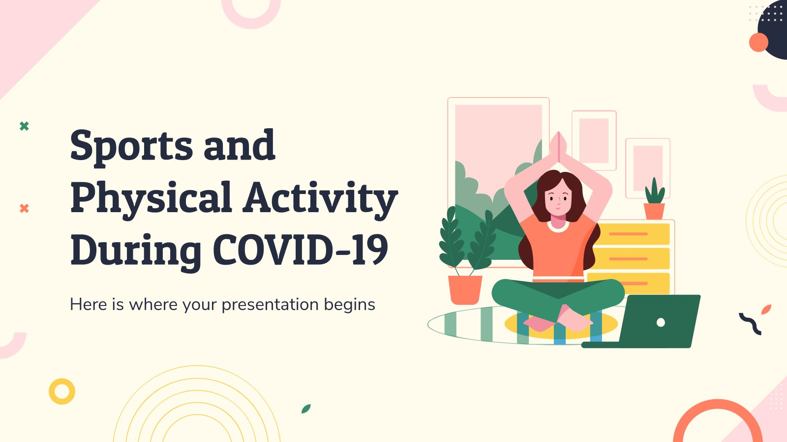 Plantilla de presentación Deporte y ejercicio durante la COVID-19