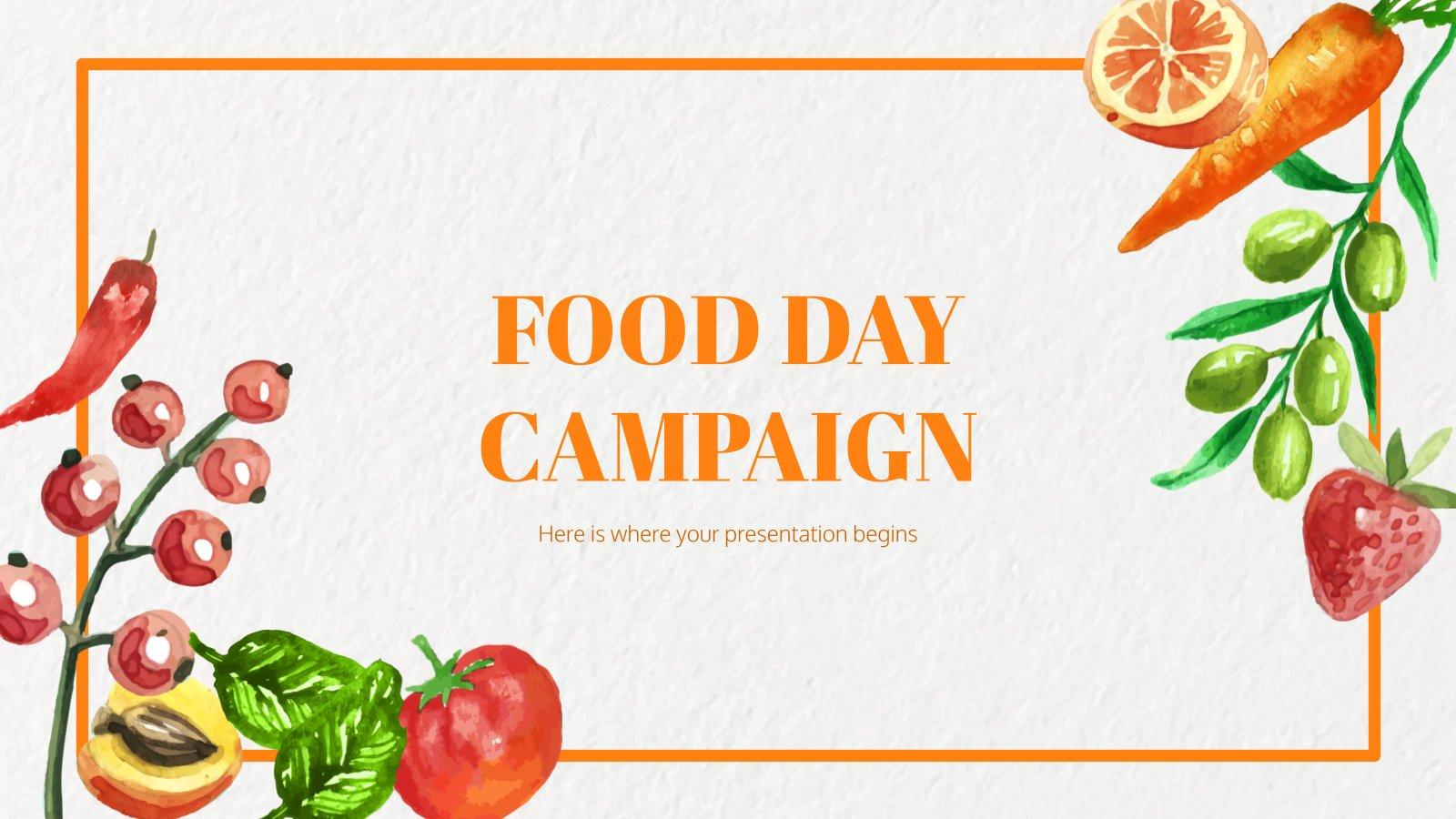 Campagne pour la Journée mondiale de l'alimentation : Modèles de présentation