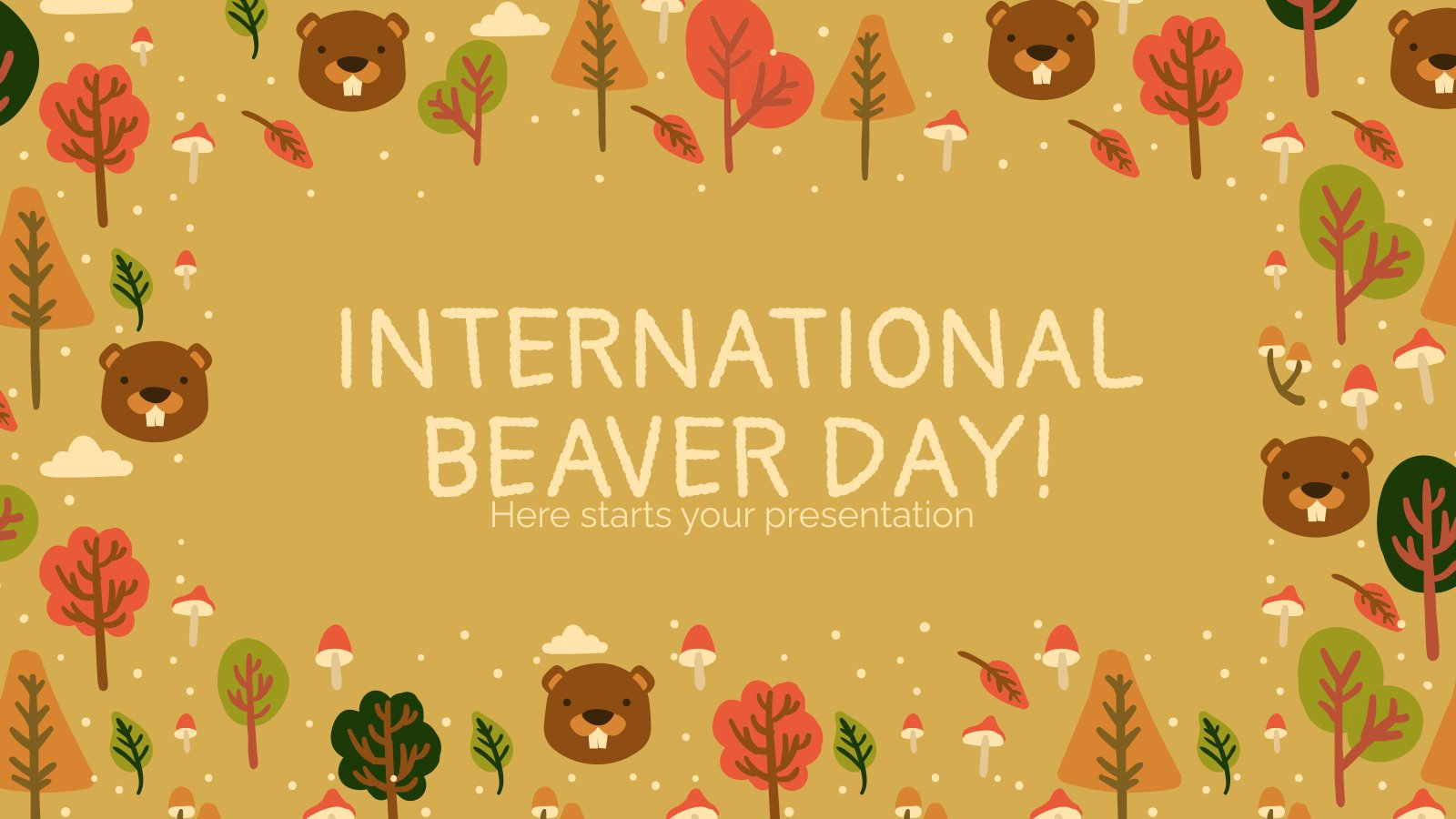 Plantilla de presentación Día internacional del castor