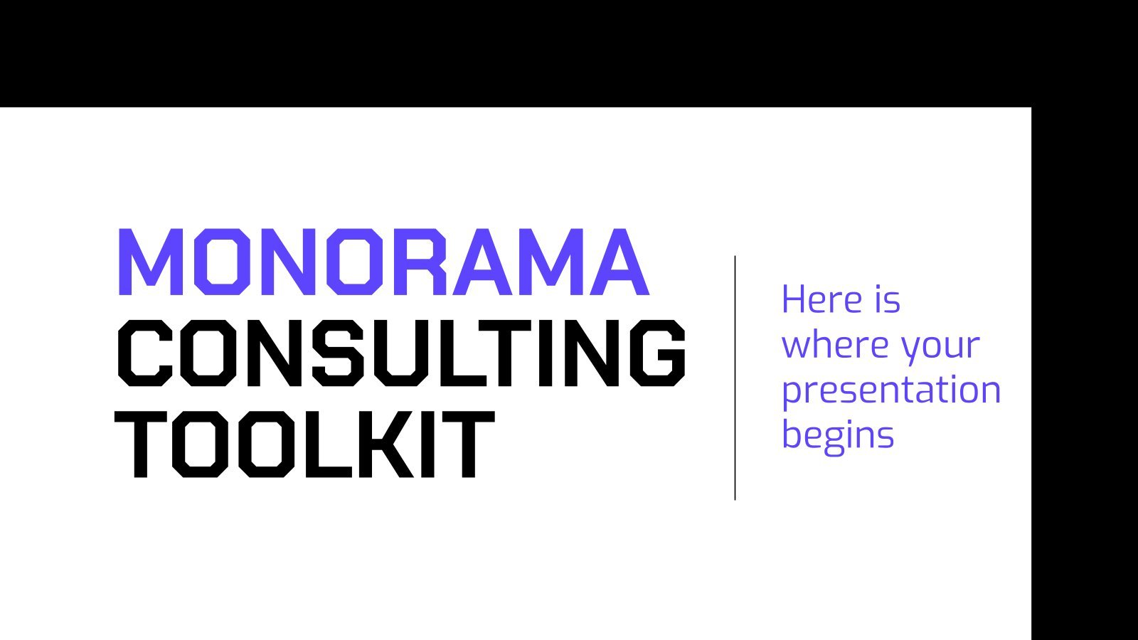 Monorama Consulting Toolkit presentation template