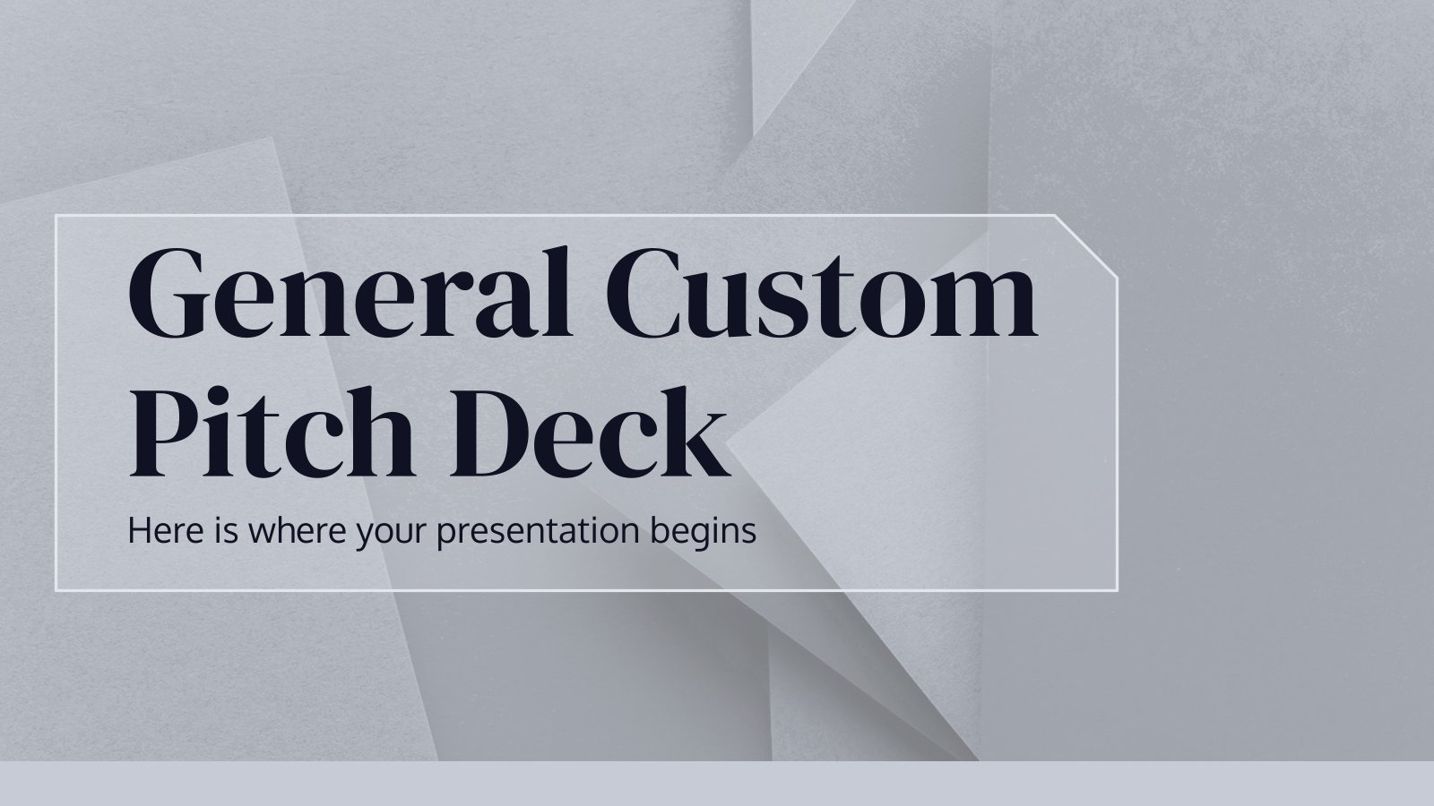General Custom Pitch Deck presentation template