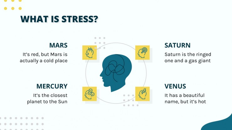 Modelo de apresentação Mês da conscientização do estresse