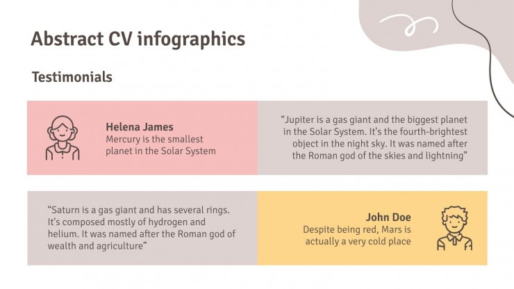 Infographies abstraites pour CV : Modèles de présentation