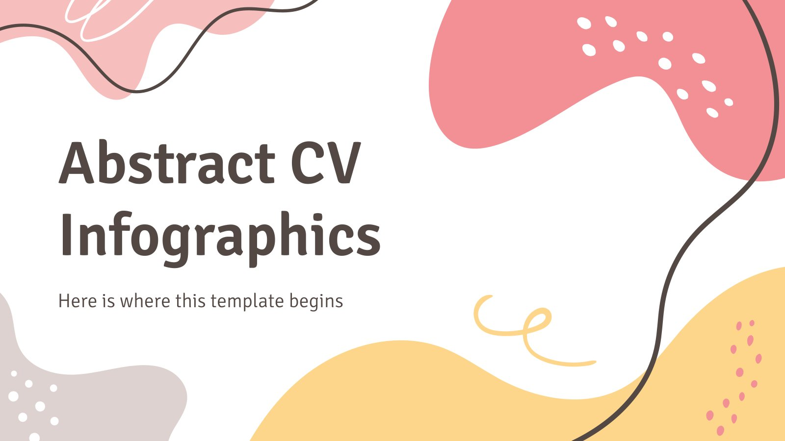 Abstract CV Infographics presentation template