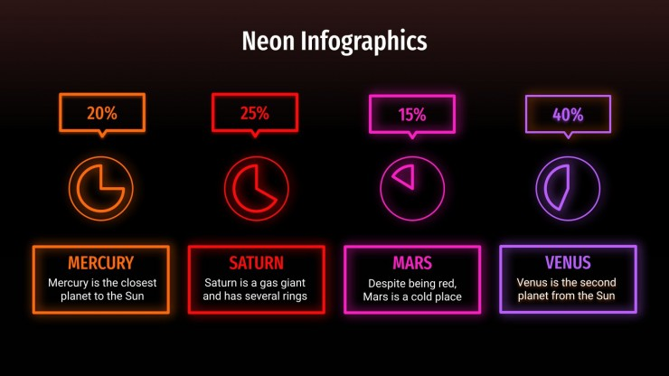 Neon Infographics presentation template