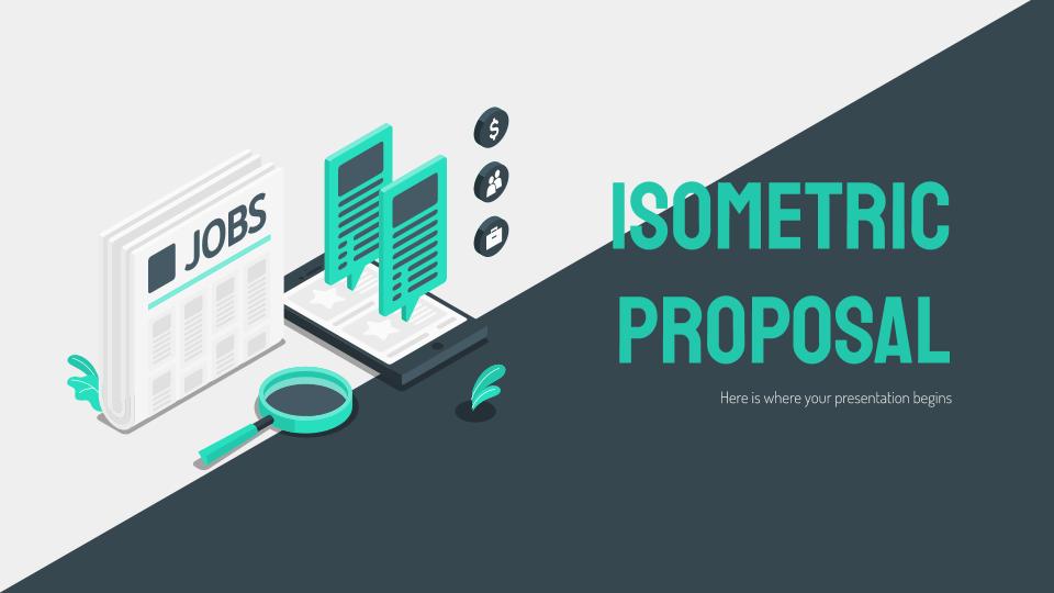 Plantilla de presentación Propuesta isométrica