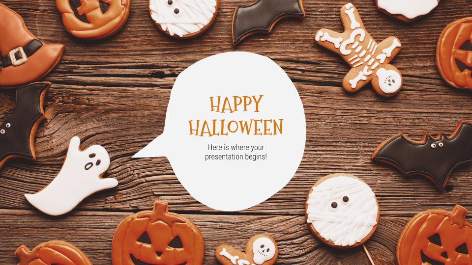 Plantilla de presentación Feliz Halloween