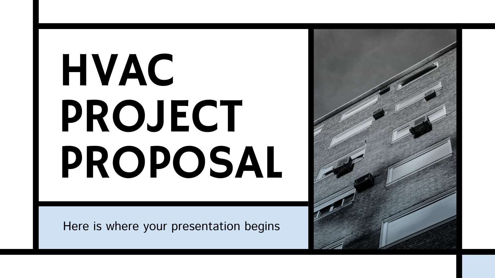 HVAC Project Proposal presentation template