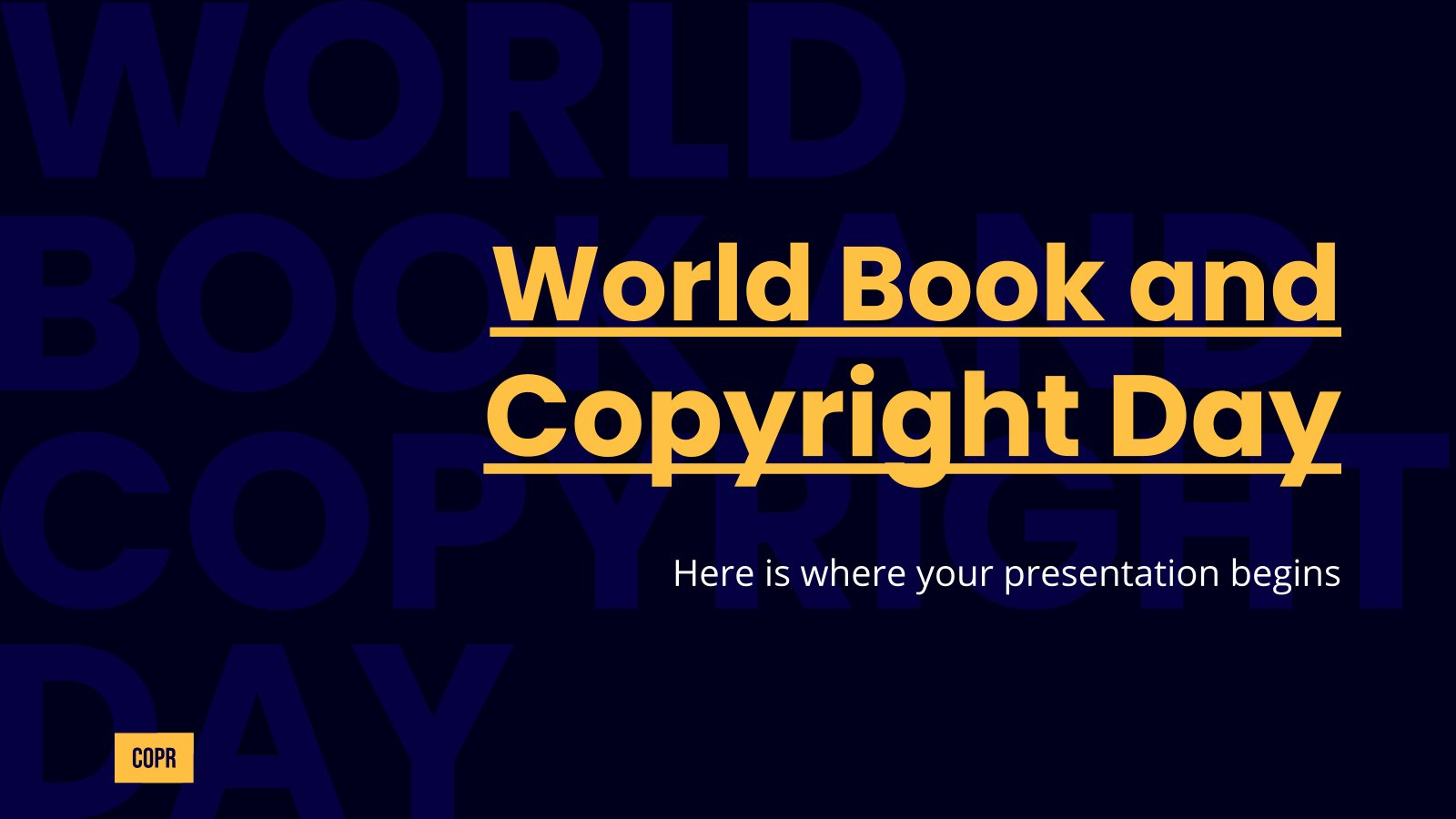 World Book and Copyright Day presentation template