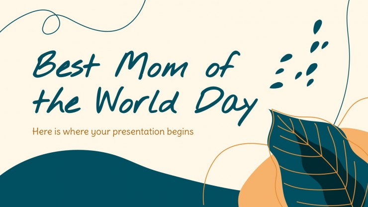 Best Mom of the World Day presentation template