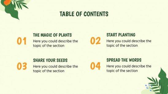 Journée internationale de célébration des plantes : Modèles de présentation