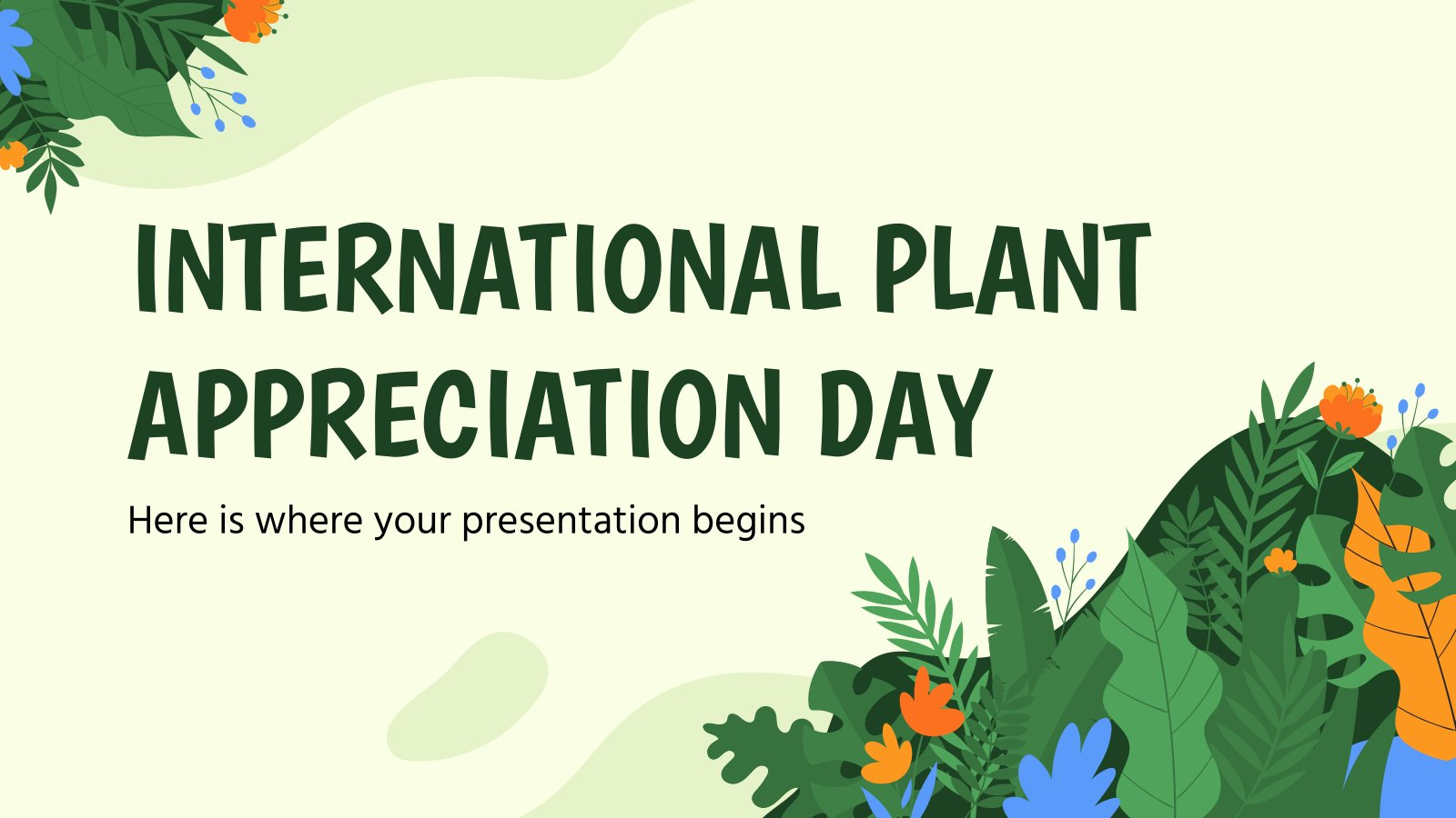 International Plant Appreciation Day presentation template