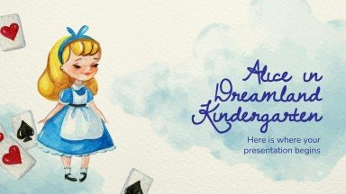 Alice in Dreamland Kindergarten presentation template