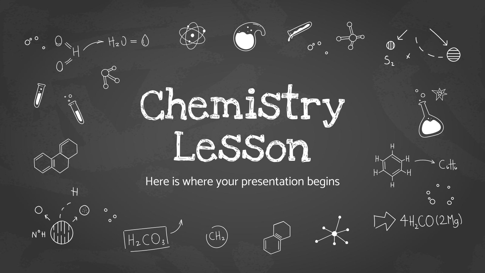 Chemistry Lesson presentation template