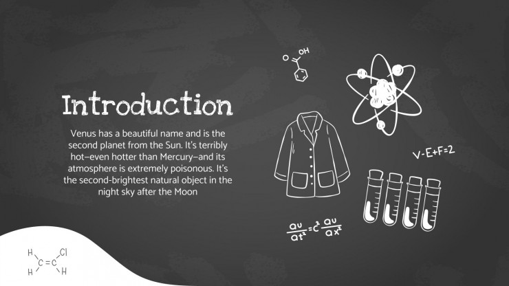 Modelo de apresentação Aula de química