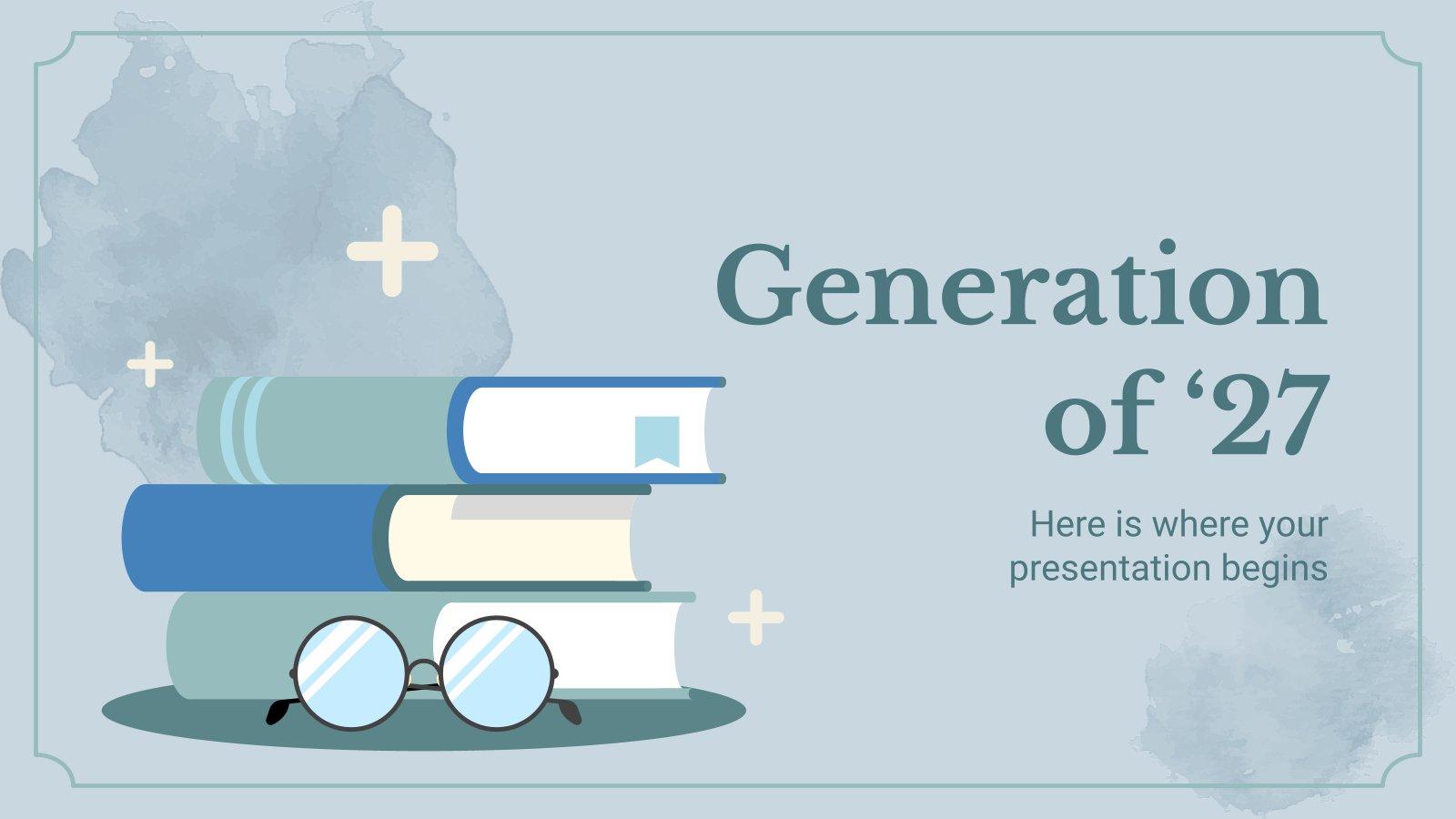 Plantilla de presentación Generación del 27