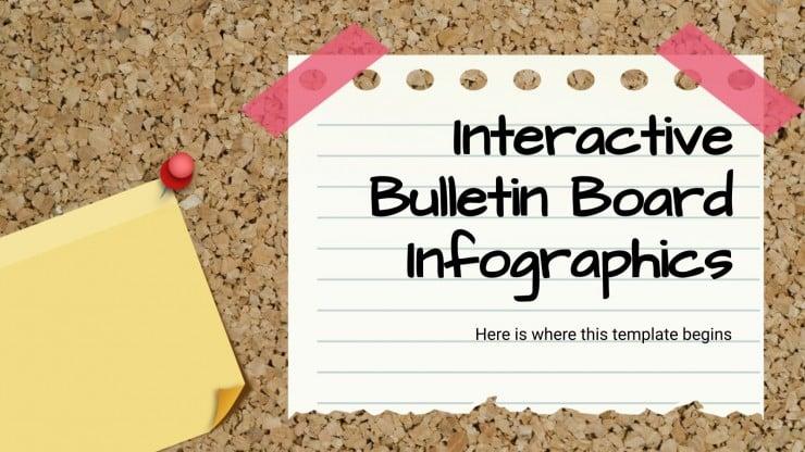 Infografías de tablón de corcho interactivo