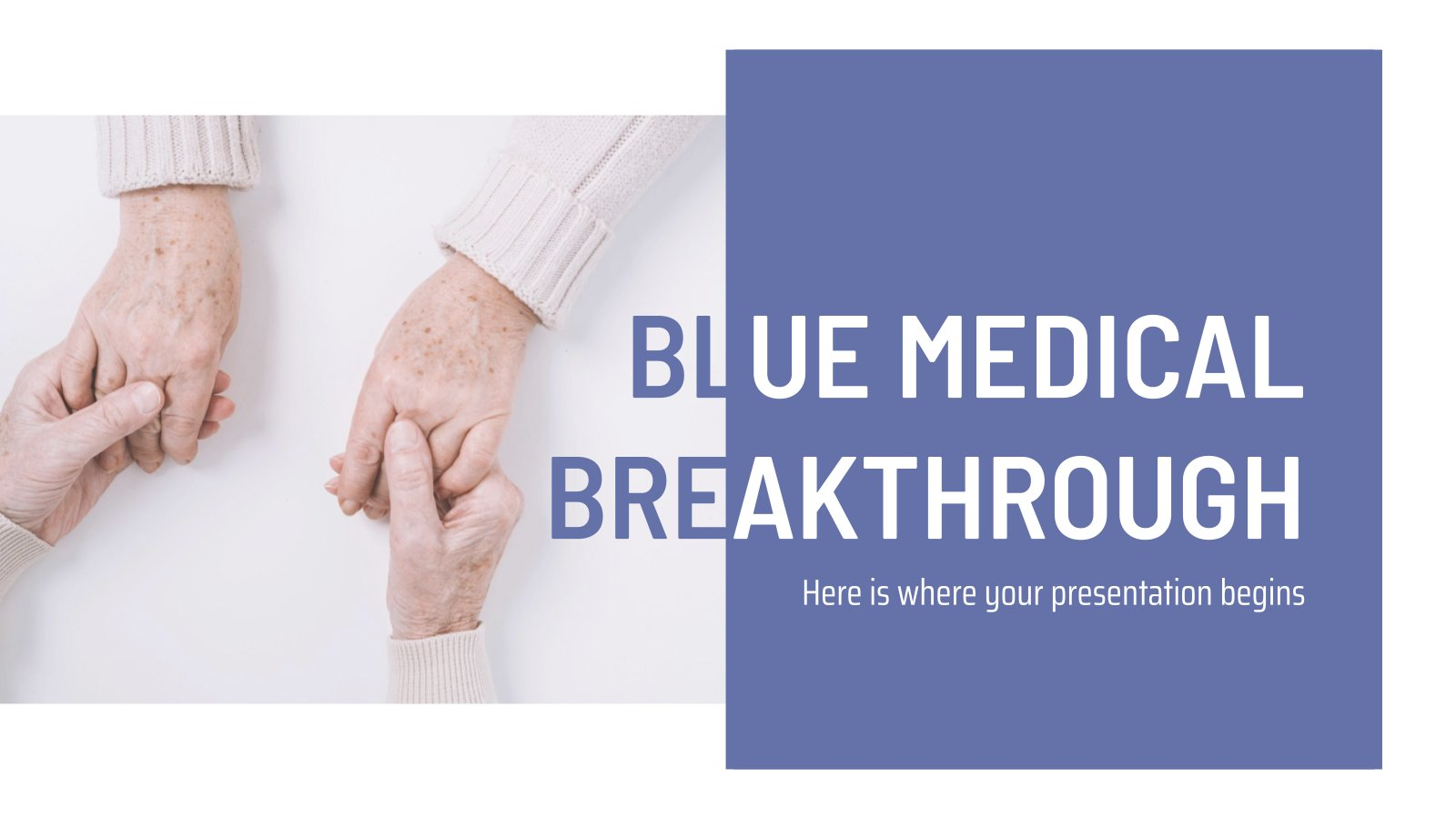 Blue Medical Breakthrough presentation template