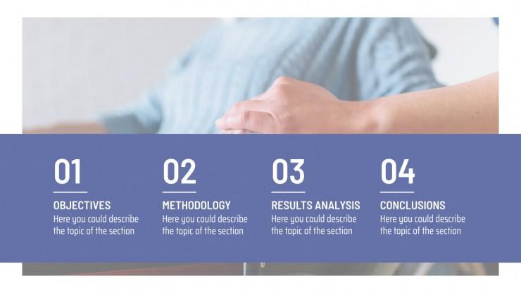 Modelo de apresentação Descoberta médica azul