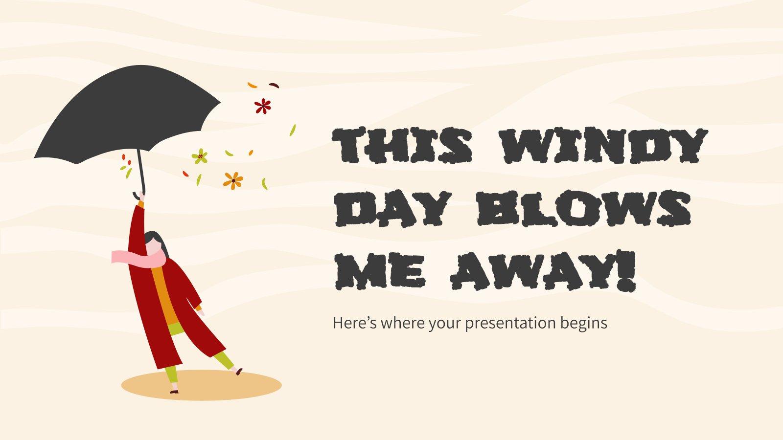 Plantilla de presentación ¡Este día de viento me hace volar!
