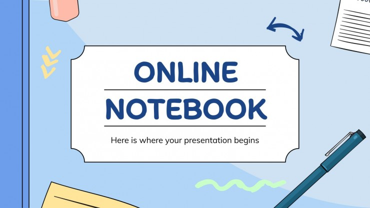 Online Notebook presentation template