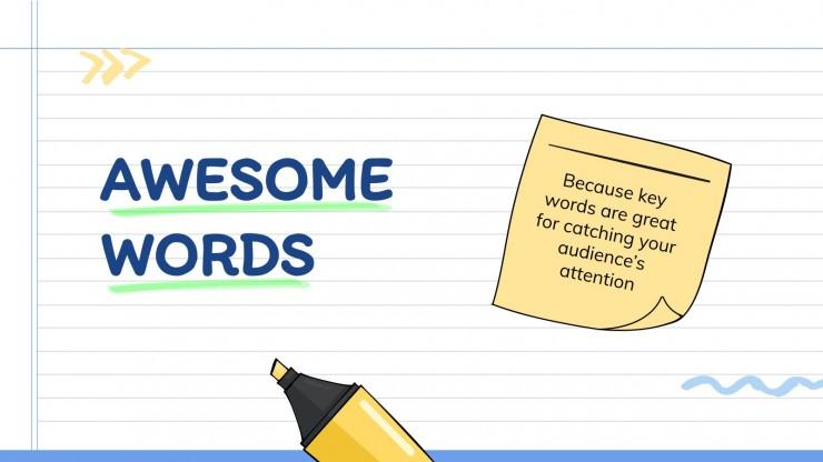 Carnet de notes en ligne : Modèles de présentation