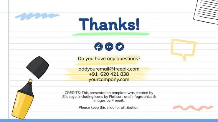 Modelo de apresentação Caderno online