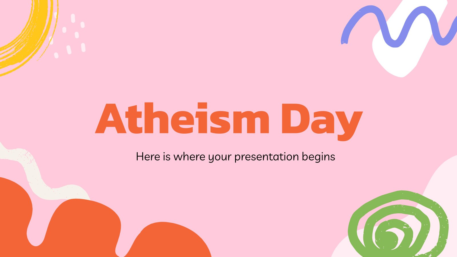 Atheism Day presentation template