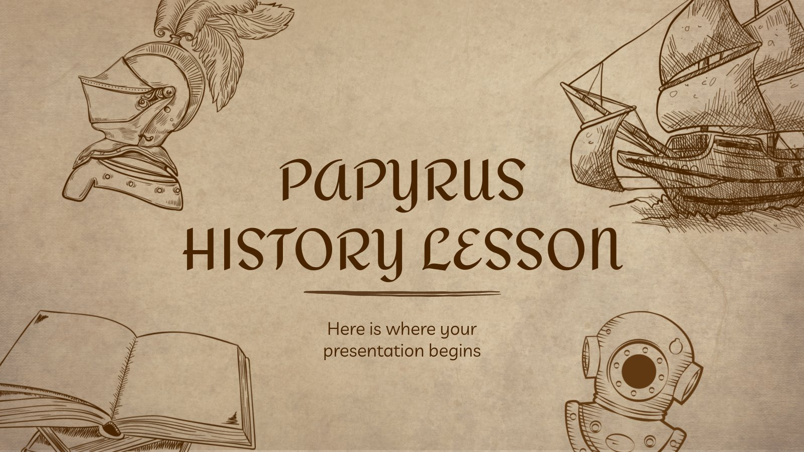 Papyrus History Lesson presentation template