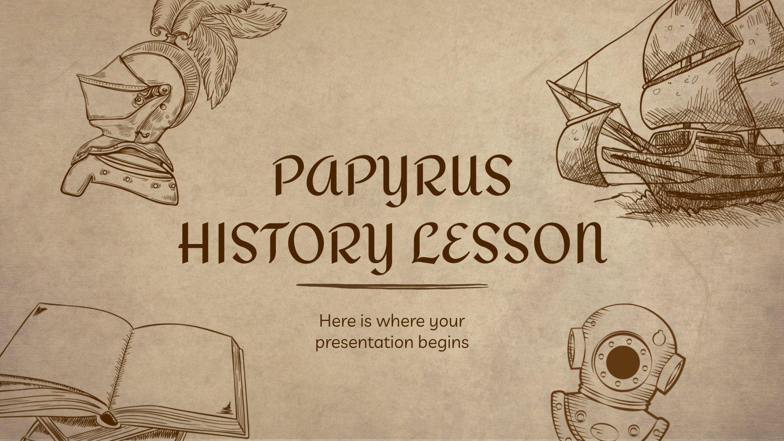 Plantilla de presentación Lección de historia en papiro