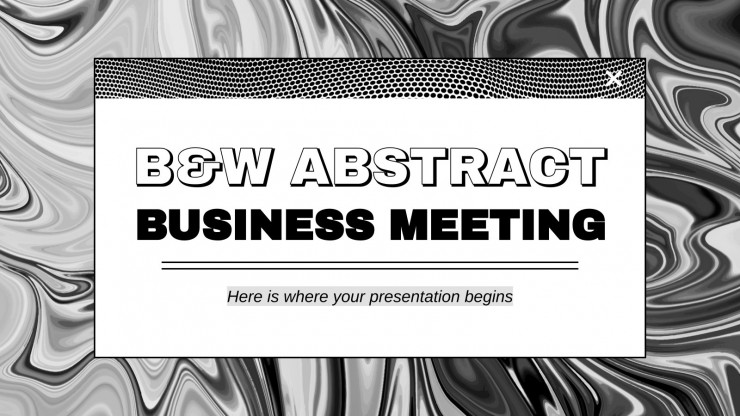 B&W Abstract Business Meeting presentation template