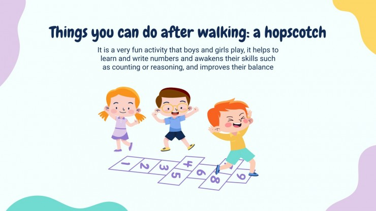 Take a Walk Today! presentation template