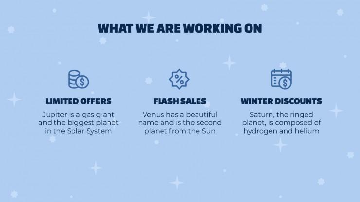 Modelo de apresentação Proposta de vendas de inverno